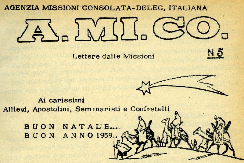 Buon Natale Anni 50.30 Novembre 1958 P Mina Dal Kenya Buon Natale Amico